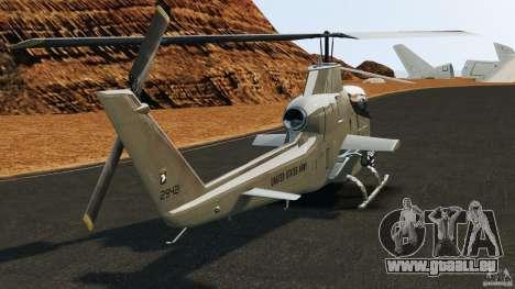 Bell AH-1 Cobra pour GTA 4 Vue arrière de la gauche
