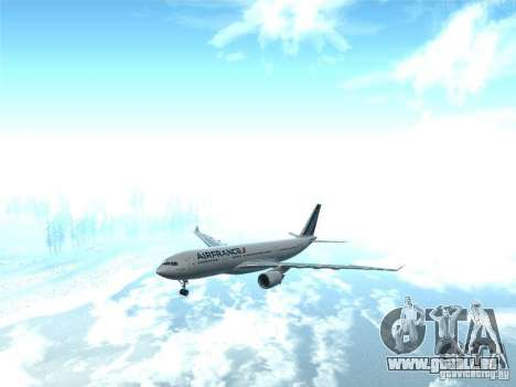 Airbus A330-200 Air France pour GTA San Andreas vue arrière