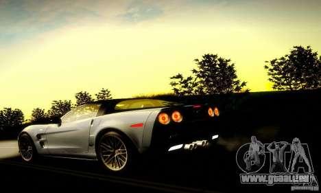 Chevrolet Corvette ZR-1 pour GTA San Andreas vue de dessous