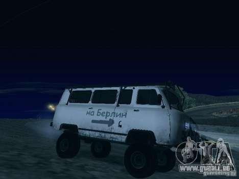 UAZ 2206 für GTA San Andreas Unteransicht