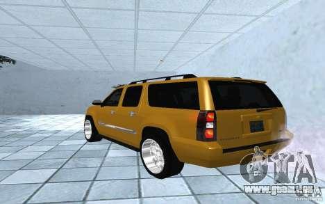 Chevrolet Suburban 2010 pour GTA San Andreas laissé vue