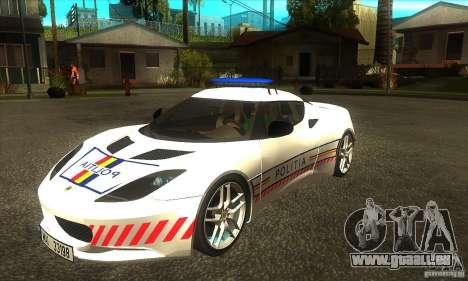 Lotus Evora S Romanian Police Car pour GTA San Andreas