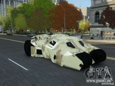 HQ Batman Tumbler für GTA 4 rechte Ansicht