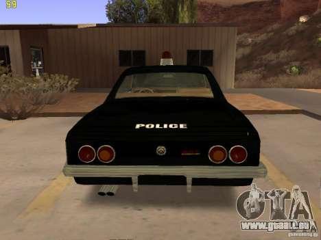 Chevrolet Opala Police für GTA San Andreas rechten Ansicht