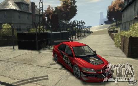 Mitsubishi Lancer pour GTA 4 Vue arrière