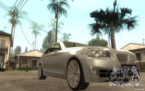 BMW 550i F10 pour GTA San Andreas vue arrière