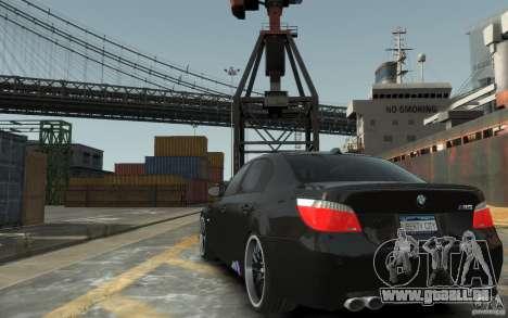 BMW M5 Hamman pour GTA 4 Vue arrière de la gauche
