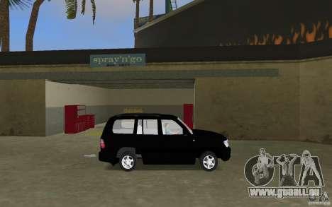 Toyota Land Cruiser 100 VX V8 pour une vue GTA Vice City de la gauche
