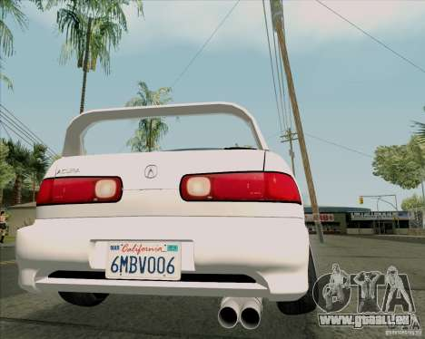 Acura Integra für GTA San Andreas Rückansicht