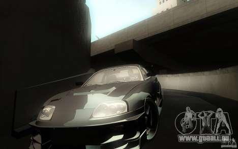 Toyota Supra Chargespeed pour GTA San Andreas salon