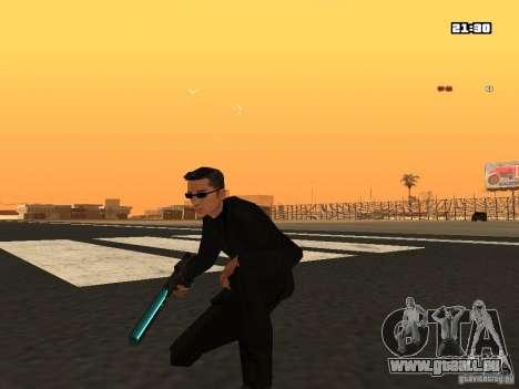 Blue Weapon Pack pour GTA San Andreas deuxième écran