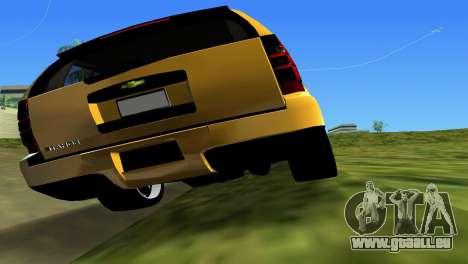 Chevrolet Tahoe 2011 pour une vue GTA Vice City de l'intérieur