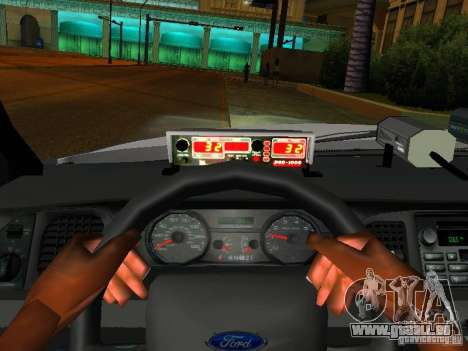 Ford Crown Victoria 2009 New York Police für GTA San Andreas Unteransicht