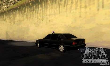 Mercedes-Benz W140 S600 Long Deputat Style pour GTA San Andreas laissé vue