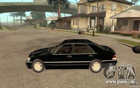 Mercedes-Benz S600 V12 W140 1998 V1.3 pour GTA San Andreas laissé vue