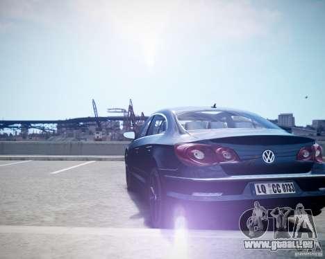 Volkswagen Passat CC pour GTA 4 Vue arrière de la gauche