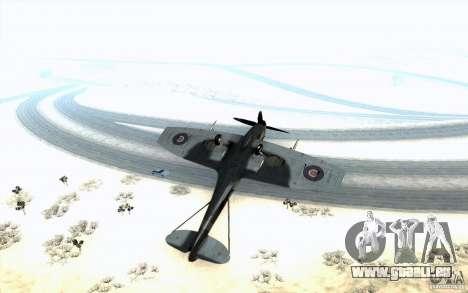 Spitfire pour GTA San Andreas vue intérieure