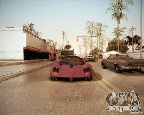 Pagani Zonda F V1.0 pour GTA San Andreas vue de côté