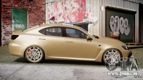 Lexus IS F für GTA 4 Innenansicht