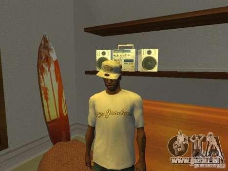 Nike Air Jordan - T-Shirt für GTA San Andreas zweiten Screenshot
