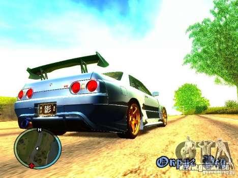 Nissan Skyline B324R pour GTA San Andreas sur la vue arrière gauche