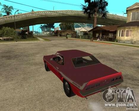 1969 Yenko Chevrolet Camaro pour GTA San Andreas laissé vue