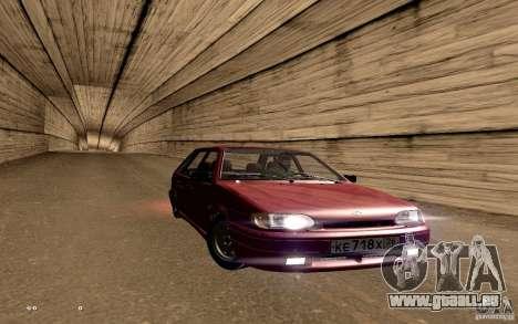ВАЗ 2114 qualité pour GTA San Andreas vue de dessous