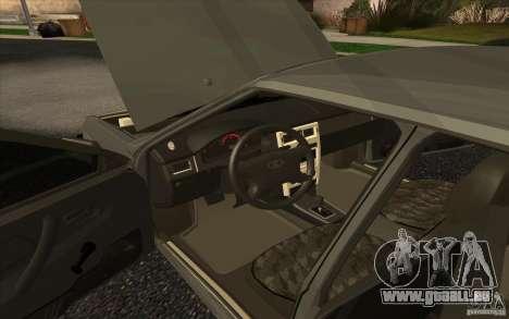 VAZ-2109 pour GTA San Andreas sur la vue arrière gauche