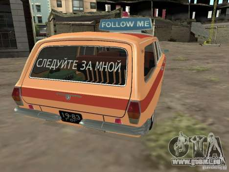 Volga GAZ-24 AEROFLOT 02 pour GTA San Andreas sur la vue arrière gauche