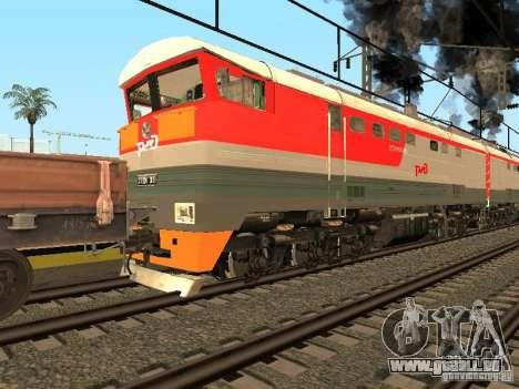 2te116 0013 RZD pour GTA San Andreas sur la vue arrière gauche