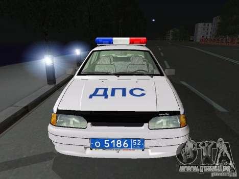VAZ 2115 Polizei DPS für GTA San Andreas Innenansicht