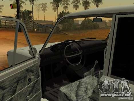VAZ 2102 pour GTA San Andreas vue arrière