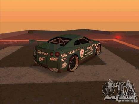 Nissan GT-R R35 rEACT pour GTA San Andreas vue de droite