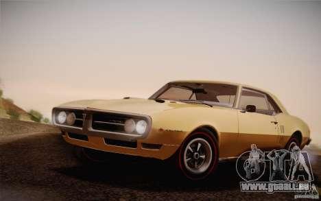 Pontiac Firebird 400 (2337) 1968 für GTA San Andreas Rückansicht