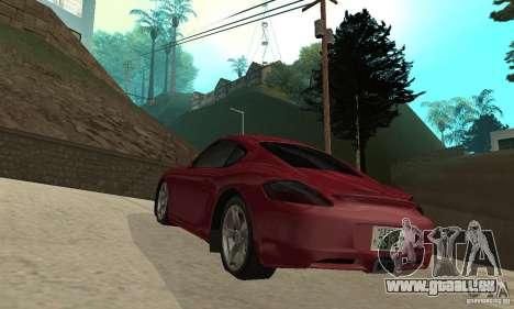 Porsche Cayman S pour GTA San Andreas sur la vue arrière gauche