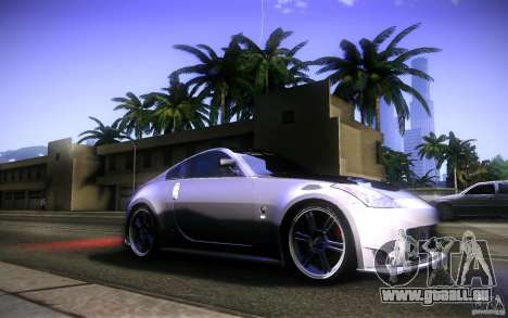 Nissan 350Z Fairlady pour GTA San Andreas vue de dessous