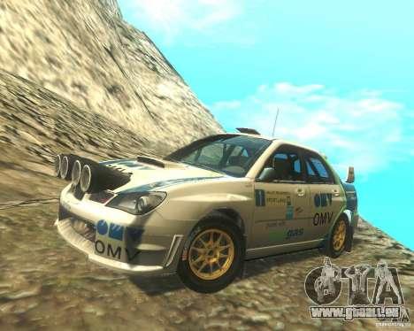 Subaru Impreza WRX STI DIRT 2 pour GTA San Andreas vue de dessus