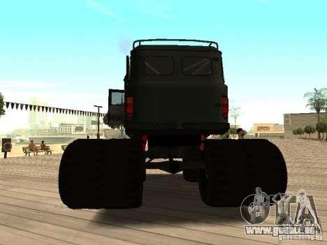 Uaz Monster pour GTA San Andreas sur la vue arrière gauche