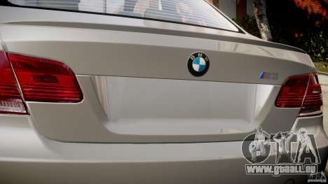 BMW M3 E92 für GTA 4 obere Ansicht