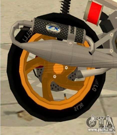 Gilera Runner 50SP Skin 3 pour GTA San Andreas vue de droite