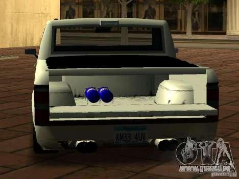 New Tuned Bobcat pour GTA San Andreas vue arrière