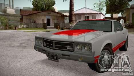 Sabre GT From GTA IV pour GTA San Andreas laissé vue