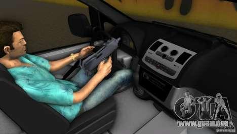 Mercedes-Benz Vito 2007 pour une vue GTA Vice City de l'intérieur