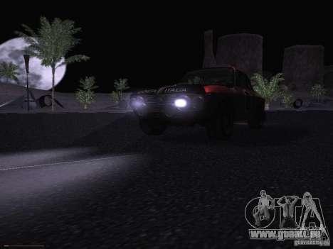 Lancia Fulvia Rally pour GTA San Andreas vue de dessus