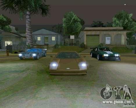 Infernus from Vice City pour GTA San Andreas vue arrière