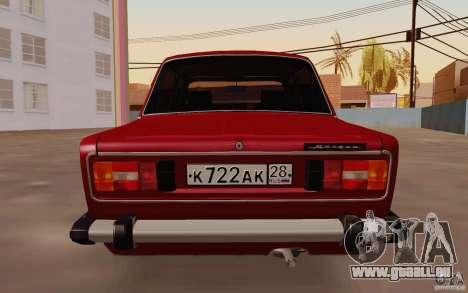 VAZ 2106 Drain für GTA San Andreas rechten Ansicht