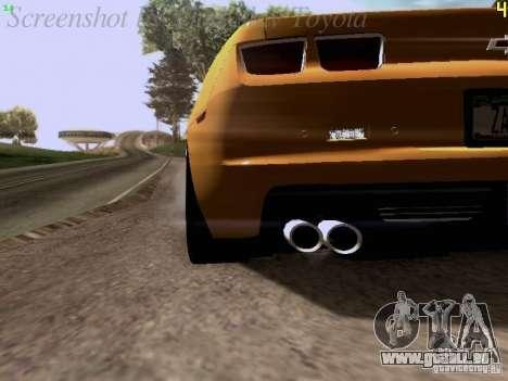 Chevrolet Camaro ZL1 2012 für GTA San Andreas Innenansicht