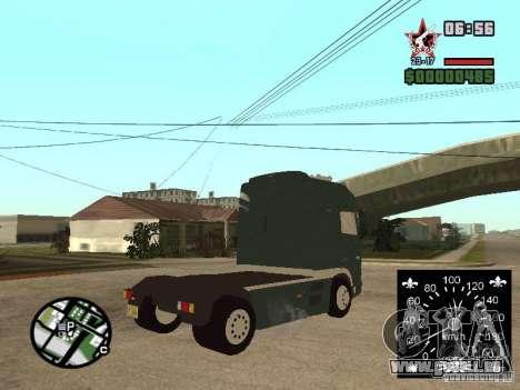 DAF XF für GTA San Andreas linke Ansicht