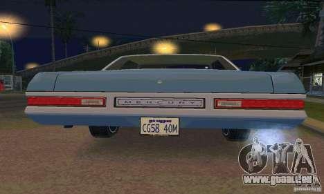 Mercury Monterey 1972 pour GTA San Andreas vue de côté