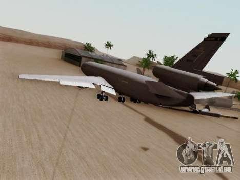 McDonell Douglas KC-10A Extender pour GTA San Andreas sur la vue arrière gauche